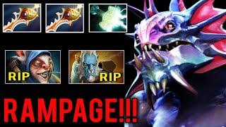 2x RAPIER RAMPAGE Megacreep Defense vs Lancer and Meepo Most Crazy 4v5 Comeback 8k MMR Dota 2