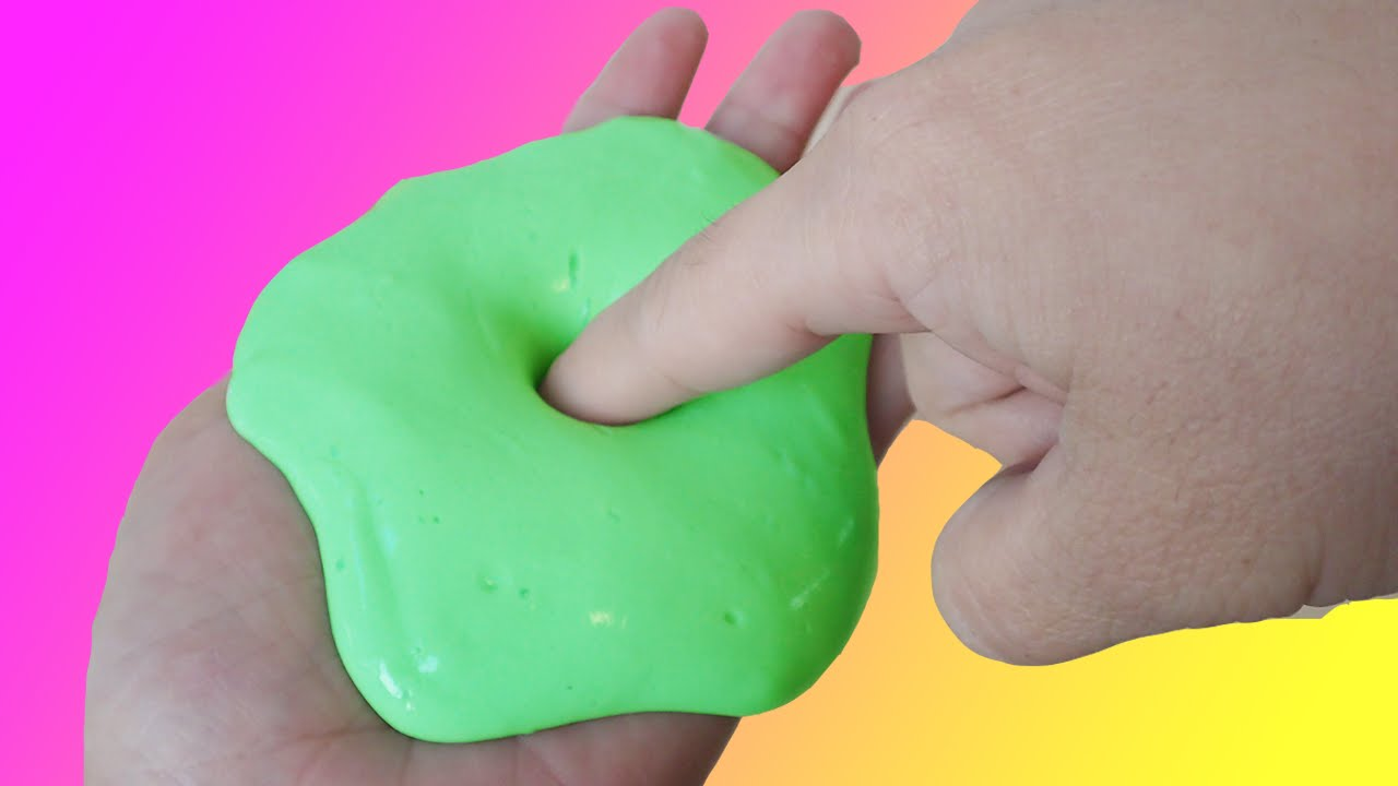 How To Make Non Sticky Apple Green Slime Without Borax or ...