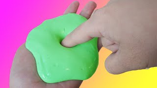 How To Make Non Sticky Apple Green Slime Without Borax or Liquid Starch by Bum Bum Surprise Toys