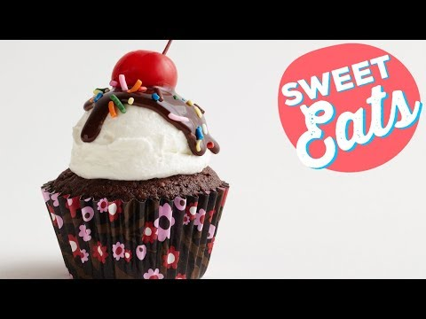Brownie Cupcakes A La Mode | Food Network