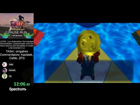 Ocarina Of Time 0 Pause Run By Omgatree (LOTAD)[Commentated]