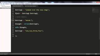 Processing Strings in PHP