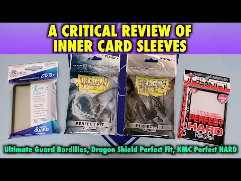 A Review Of Inner Sleeves By Bordifies, Dragon Shield And KMC Hards For Magic The Gathering, Pokemon