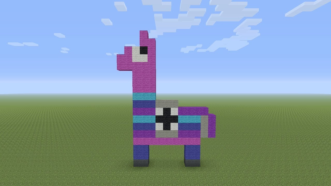 Minecraft Pixel Art Fortnite Llama