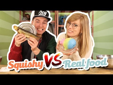 SQUISHY VS REAL FOOD CHALLENGE!