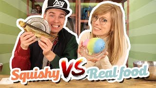 Squishy Food vs Real Food