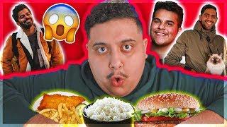 تحدي خليت اليوتيوبرز يحددون اكلي لمدة ٢٤ ساعة 🤣 | جو حطاب و عز الخد و عبدالله النعيمي !!