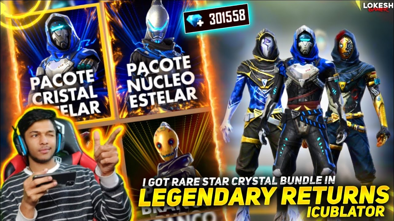 New Especial Royale I Got Legendary Star Crystal Bundle & Silvery Beast Bundle At Garena Free Fire