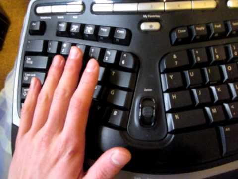 microsoft natural wireless ergonomic keyboard 7000 manual