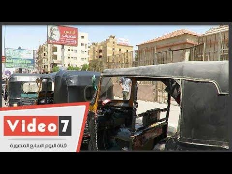 التحفظ على  التكاتك بميدان الحصرى بحضور الشرطة النسائية  - 14:54-2018 / 9 / 14
