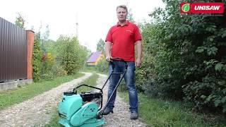 видео Бензиновая виброплита