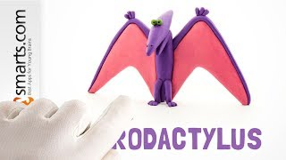 Clay for Kids  - how to make a funny Pterodactyl from Hey Clay Dinos