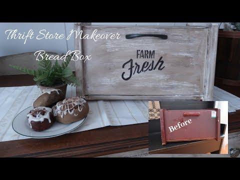 Thrift store makeover breadbox 2018