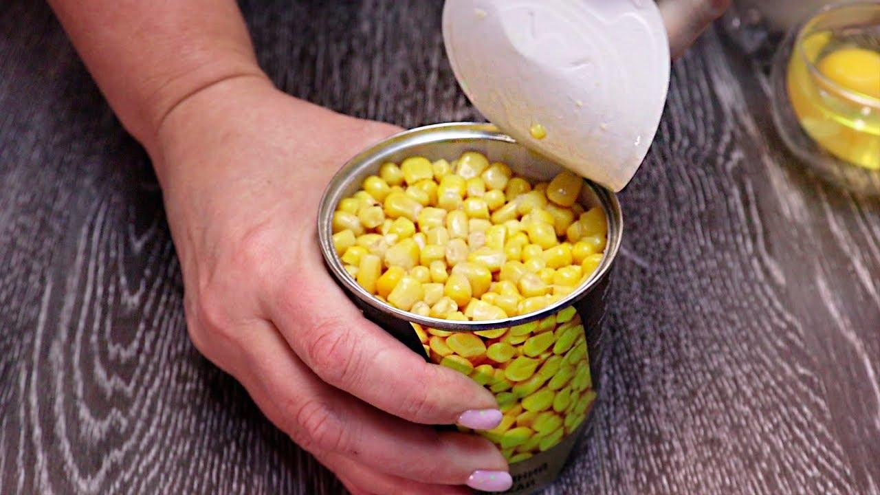 Вы БУДЕТЕ готовить их снова и СНОВА! Невероятно вкусные оладьи из простой кукурузы