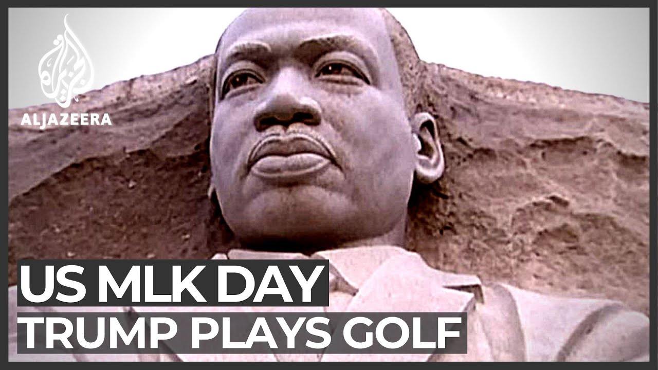 US: Donald Trump spends MLK Day golfing in Florida