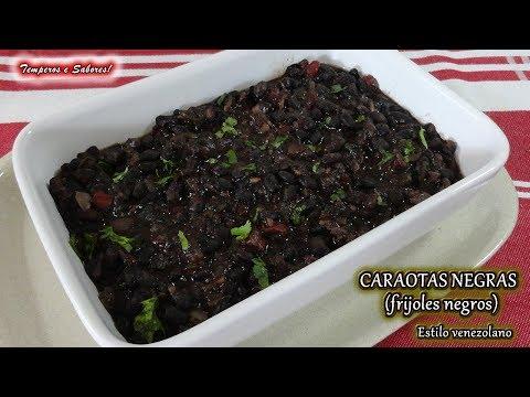 CARAOTAS NEGRAS estilo Venezolano   frijoles negros, facil y deliciosas
