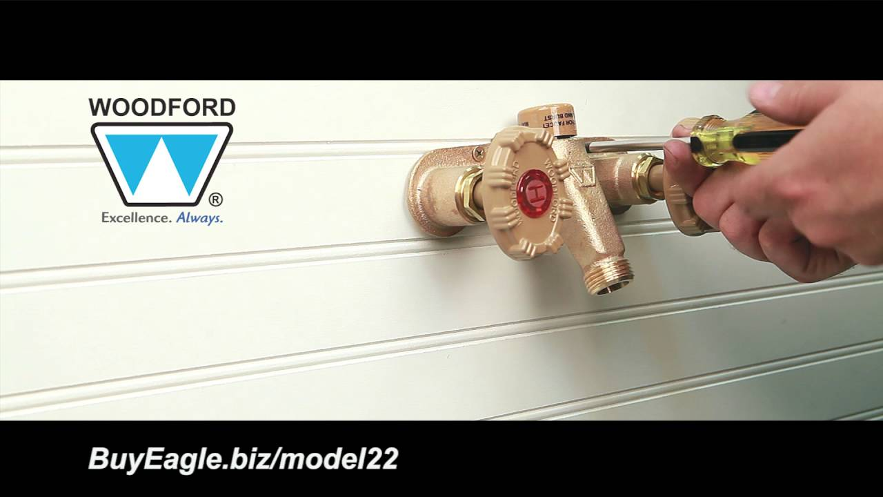 Woodford Model 22 Hot and Cold OutdoorFaucet Installation - YouTube