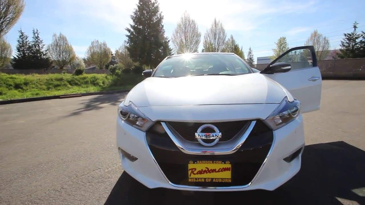 2016 Nissan Maxima Platinum Pearl White Gc431768 Kent Tacoma