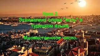 """Турецкий язык. Урок 2. Эквивалент слова """"есть"""" в турецком языке. Множественное число."""