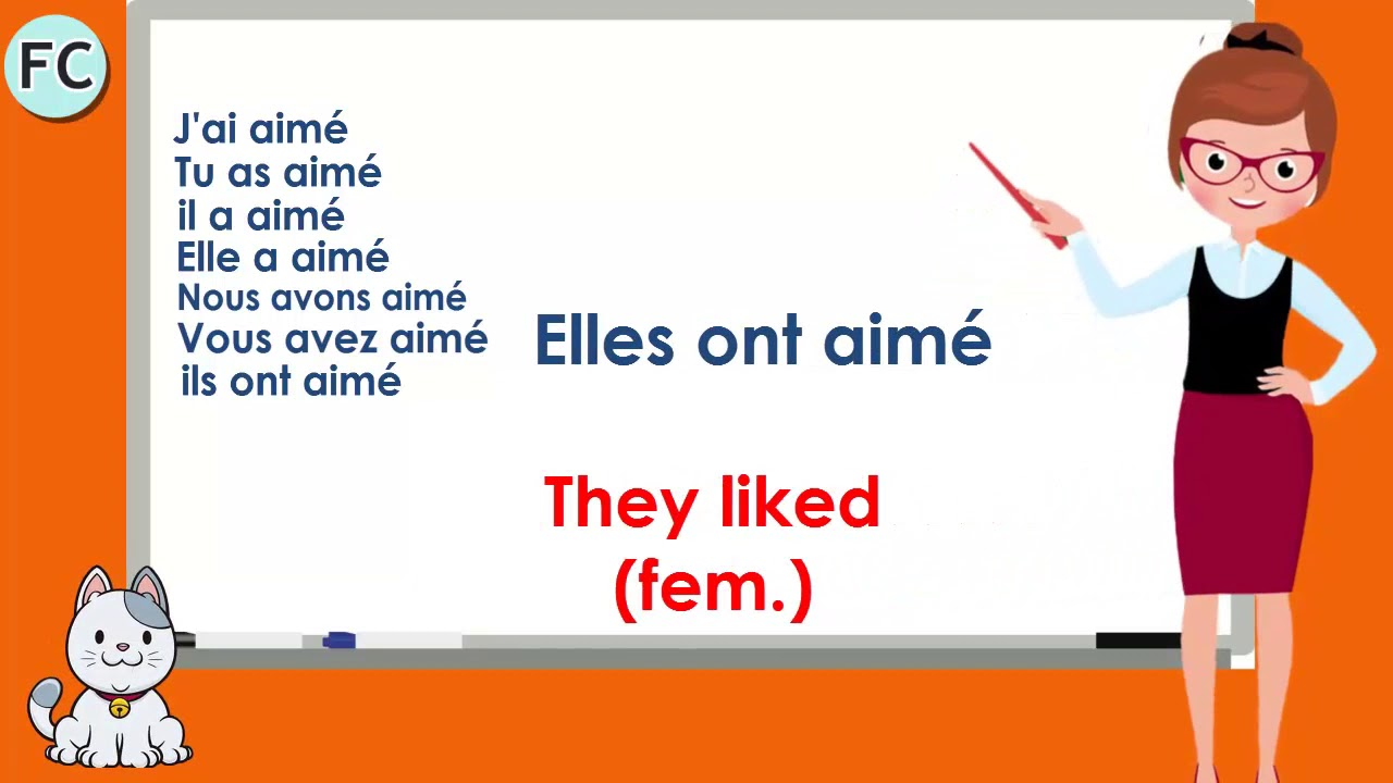 Le Verbe Aimer Au Passe Compose To Like Compound Tense French Conjugation Youtube
