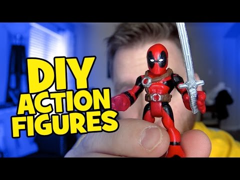 HOW TO MAKE DIY Custom Imaginext Batman Toys and Playskool Spiderman Toys by KidCity