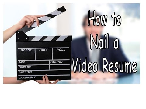 how to nail a video resume with a provided example