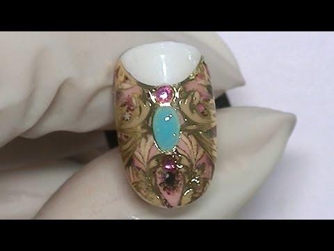 Видео Жидкий камень маникюр битое
