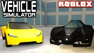 Tesla Roadster 2.0 VS Lambo Egoista dans Vehicle Simulator! Roblox