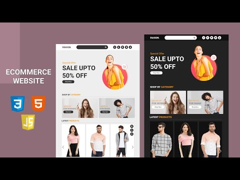 How To Make A Responsive E-Commerce Fashion Website Design Using HTML, CSS & JS - From Scratch
