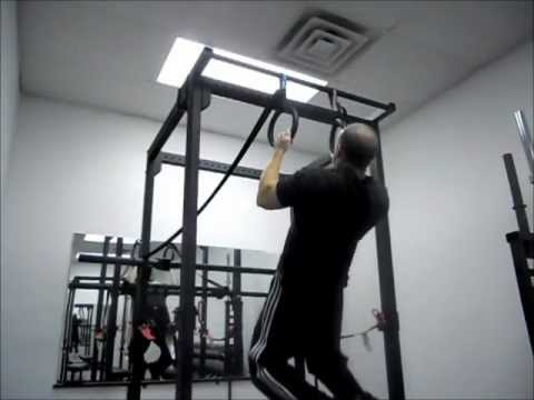 Ring Pull Ups With Band Tension-Dayton Ohio Personal Training-Strength Training