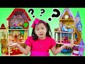 Jannie Pretend Play w/ Disney Belle & Cinderella GIANT Doll Playhouses Kids Toys