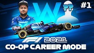 F1 2021 Co Op Career Mode Part 1 - CAR & TEAM MATE REVEAL