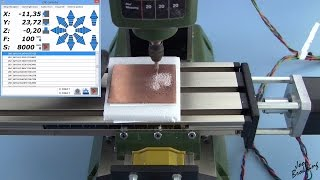 PCB milling tutorial with a Proxxon MF 70 CNC milling machine using Estlcam and PCB-GCODE