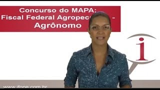 Vídeo 1 - Concurso MAPA - Dicas para candidatos à Fiscal Federal Agropecuário Agrônomos