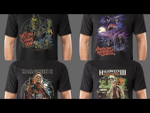 Repeat FRIGHT RAGS! Horror themed art t-shirt un-bag! by