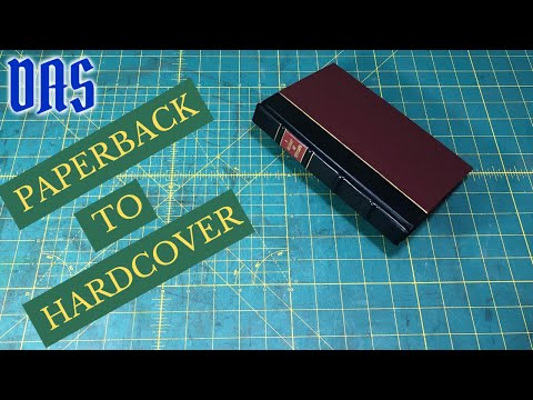 Converting a Paperback to a Hardcover Book Part 1 // Adventures in Bookbinding