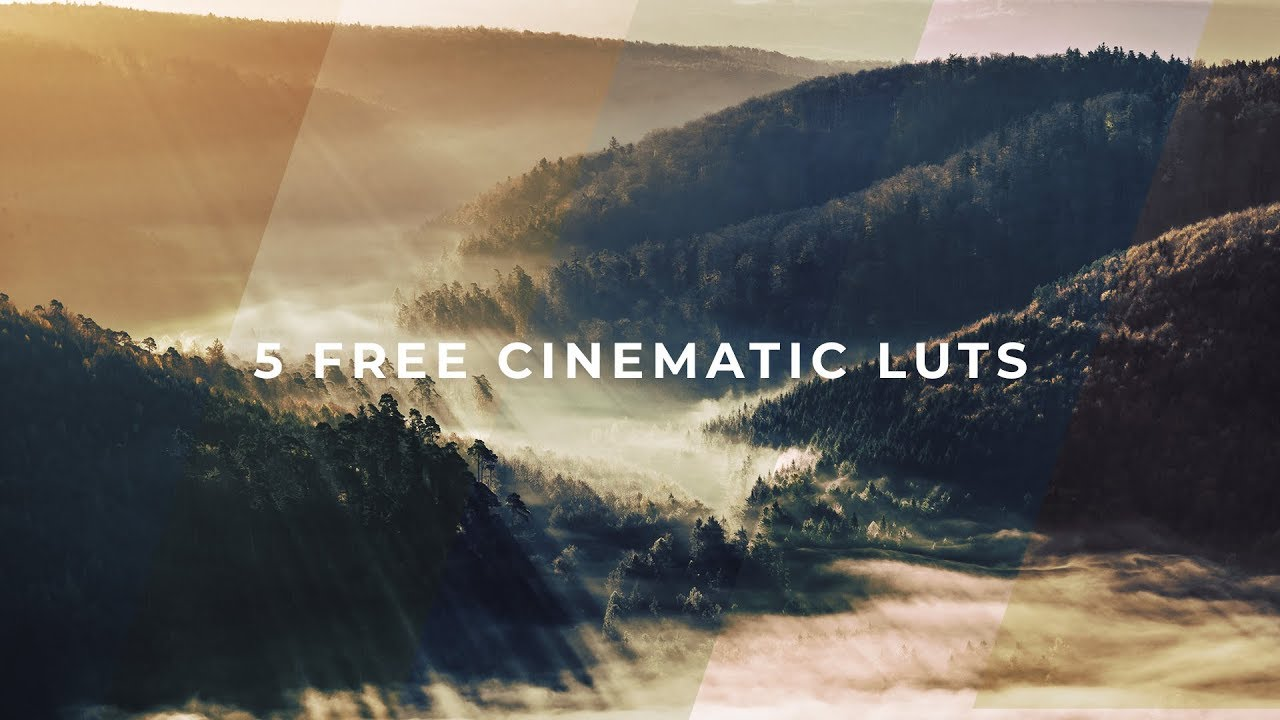 5 Free Cinematic Luts Free Color Grading Preset Pack Youtube