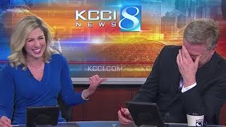 News Anchors Can't Stop Laughing At Honking Dog