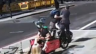 Cyclist head-butts pedestrian in moment of rage