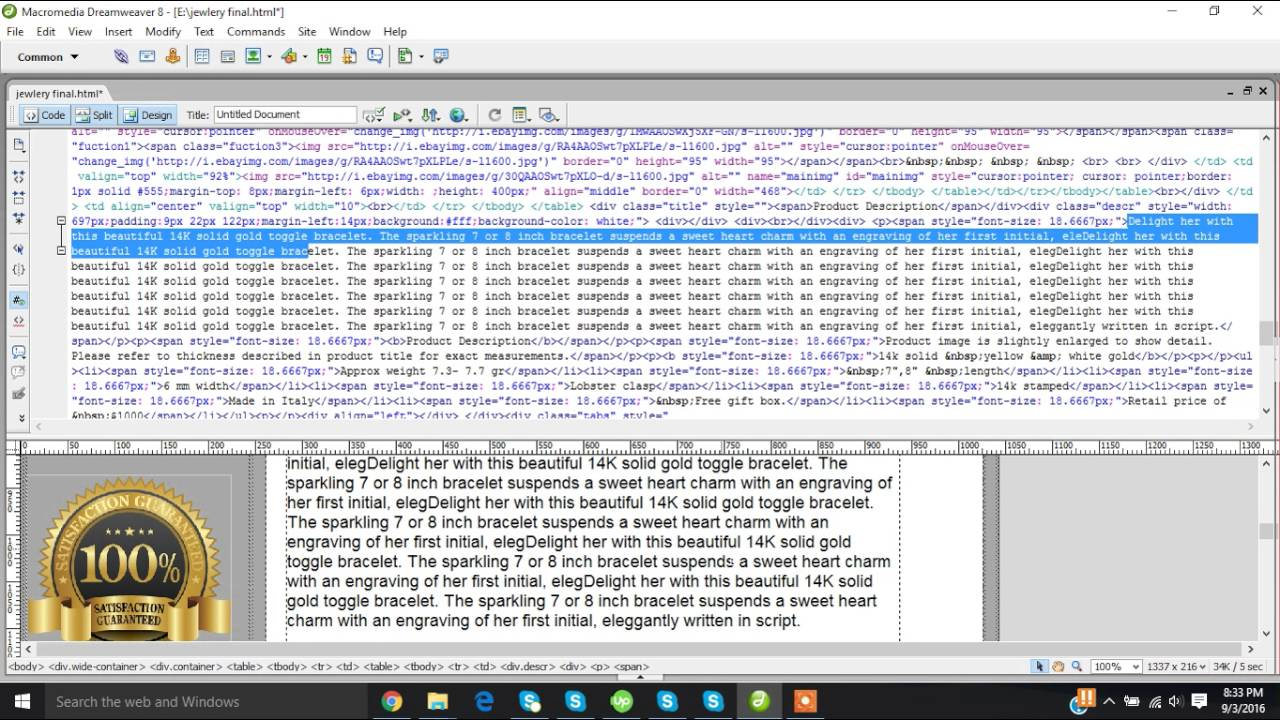 How To Install Html Template In EBay Listings YouTube - Dreamweaver ebay template