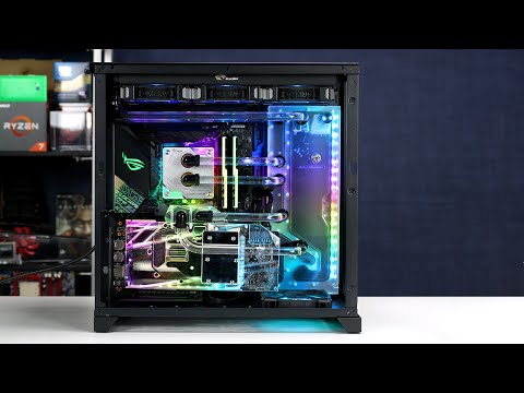 Super clean hard tube water cooled RGB PC - Time Lapse Build