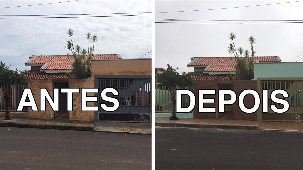 Antes e depois reforma casa da mam e youtube - Reforma de casas ...