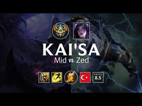 KaiSa Mid vs Zed - TR Challenger Patch 85