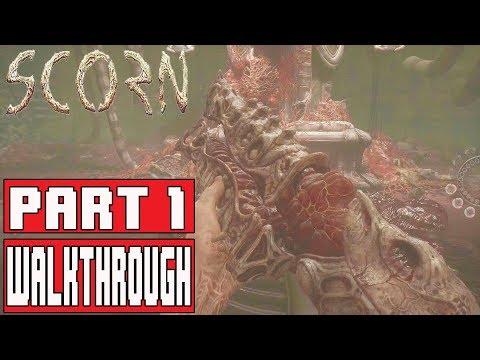 SCORN Gameplay Walkthrough Part 1 (Alpha Demo) - No Commentary [FPS Horror]