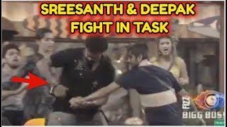 HUGE FIGHT BETWEEN DEEPAK & SREESANTH IN CAPTAINCY TASK | BIGG BOSS 12