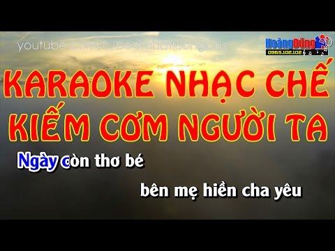 Karaoke Nhạc chế | KIẾM CƠM NGƯỜI TA | Beat chất lượng cao