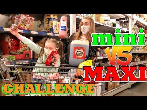 24 ЧАСА покупаем только Mini и MAXI продукты! Лика VS Милана CHALLENGE