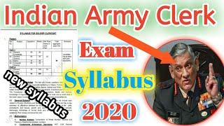 Indian Army Clerk Exam Syllabus 2020 // www.joinindianarmy.nic.in