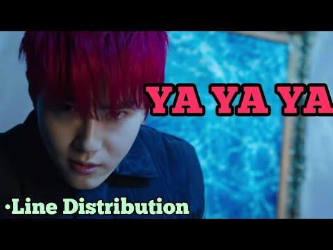 EXO - YA YA YA (Line Distribution)