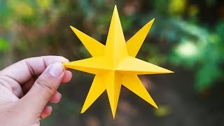 DIY Christmas Decorations | How to make simple & easy paper star | Step By step Tutorials